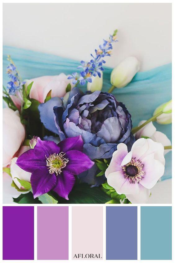 Pink Purple and Blue wedding 6