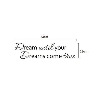 Woorden Dream Your Dream muurstickers - EUR € 13.63