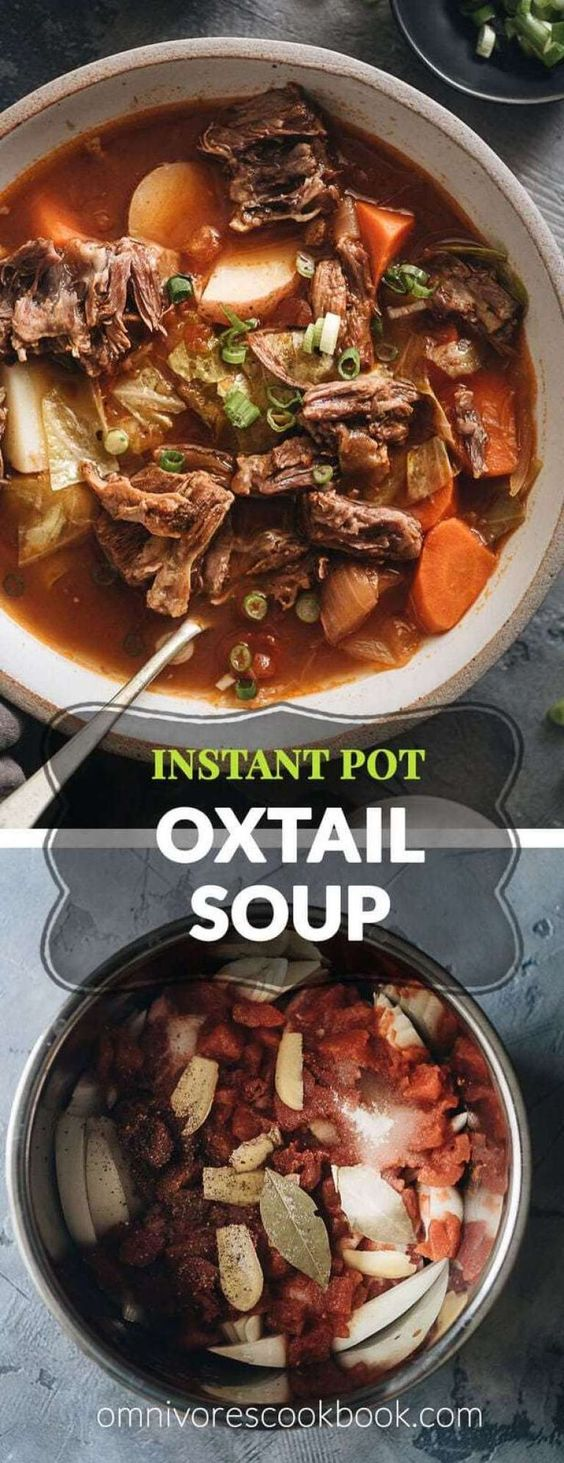 Pressure Cooker Oxtail Soup (An Instant Pot Recipe)