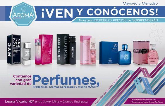 Contamos con gran variedad de perfumes, fragancias, cremas corporales y mucho mas, todos importados de Francia, Suiza, India y EUA