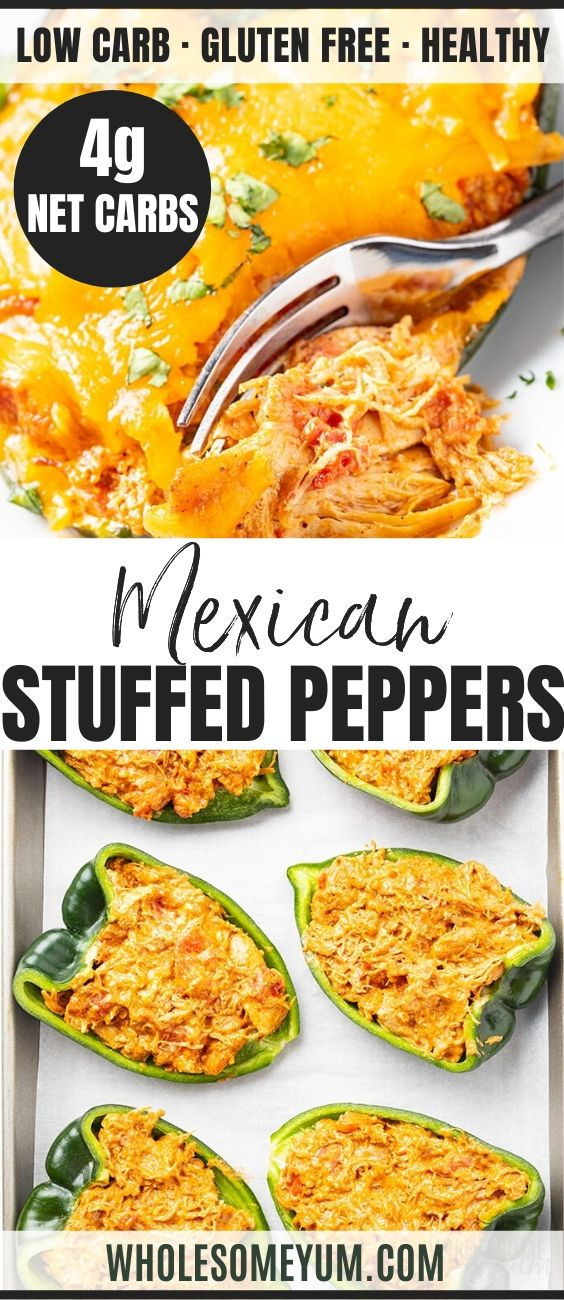 Keto Mexican Cheese Chicken Stuffed Poblano Peppers Recipe In 2020 Stuffed Peppers Peppers Recipes Recipes With Chicken And Peppers