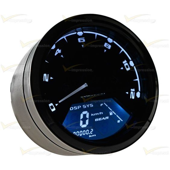 12000RPM LCD Digital Odometer Speedometer Tachometer For Motorcycle Scooter #Vimpression