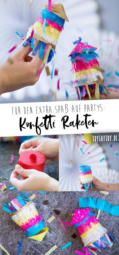 Upcycling DIY - Konfetti Raketen
