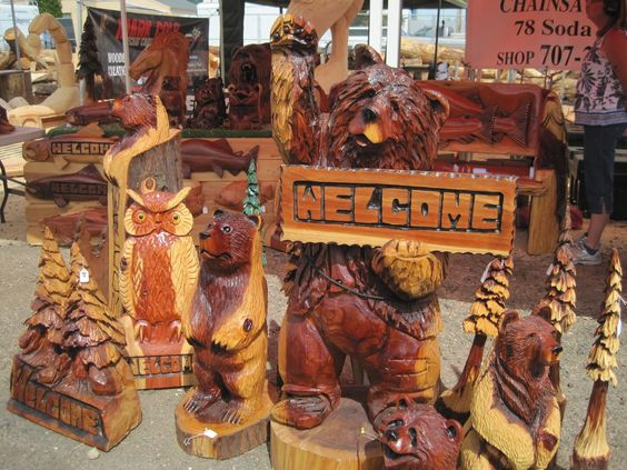 Chainsaw art for sale finished pieces brought