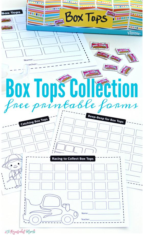 Box Tops Collection Free Printable Forms – Free Printable School Forms