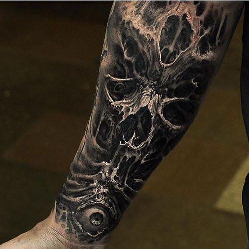 101 Best Skull Tattoos For Men Cool Designs Ideas 2019 Guide Tattoos For Guys Forearm Tattoo Men Cool Forearm Tattoos