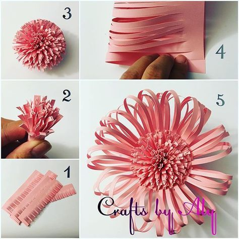 This Center Is So Easy And Fun To Make Diycrafts Handmade Paperflower Paperflowerbackdrop Paper Flowers Craft Paper Flower Tutorial Paper Flower Template