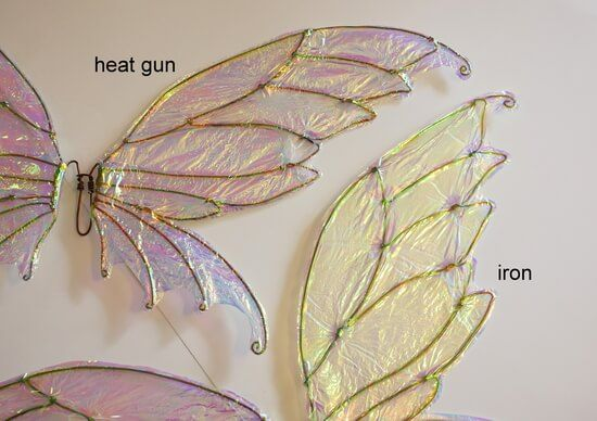 How To Make Diy Fairy Wings With Cellophane An Easy To Follow Tutorial Diy Fairy Wings Fairy Costume Diy Fairy Wings