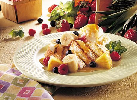 Butterscotch Fruit Packets and Grilled Angel Food Cake