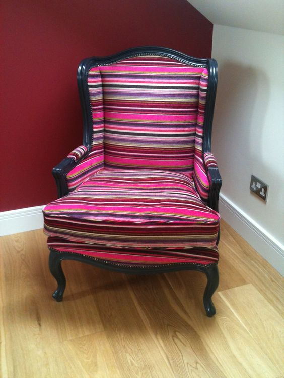 Traditional Wing Chair in funky fabric by Dutch Connection www.dutchconnection.co.uk