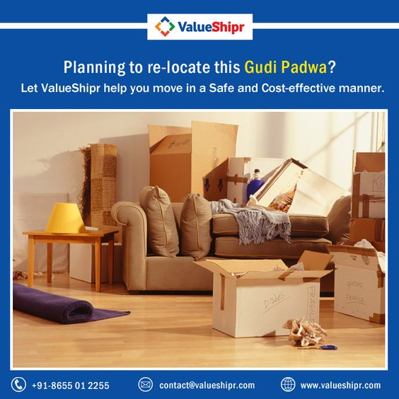 Planning to re-locate this Gudi Padwa? Let ValueShipr help you