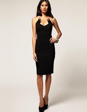Hybrid Dress Bandeau with Winged Collar Detail