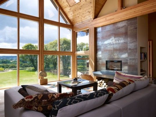 Eco Architecture, economical home, factory made homes, flat pack architecture, green architecture, prefab architecture, Lindal Cedar Homes, ...