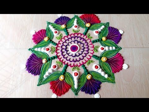 Happy New Year Best Rangoli 28