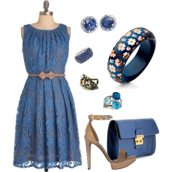 """Periwinkle and Sapphire"" by bethherrmann on Polyvore"
