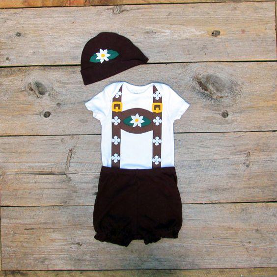 Toddler Lederhosen Costume / Oktoberfest Baby. $42.00, via Etsy.