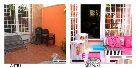 DIY-Antes y después de una terraza con materiales reciclados