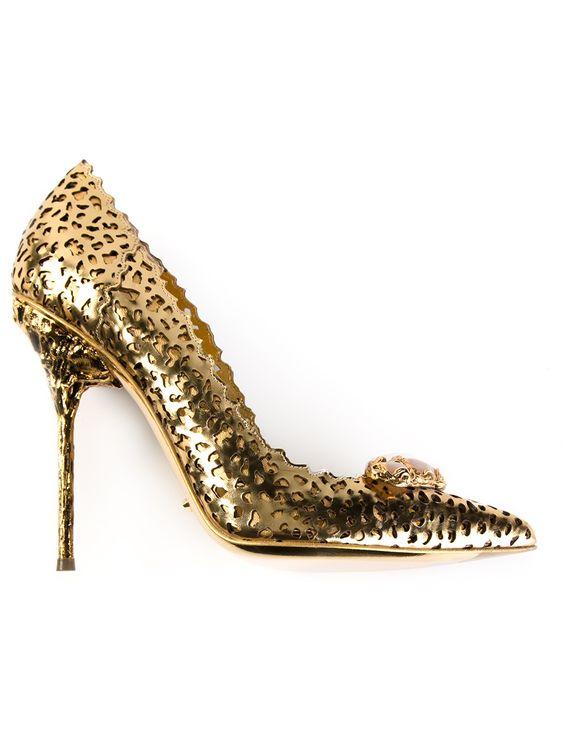 SERGIO ROSSI - Sapato dourado 5