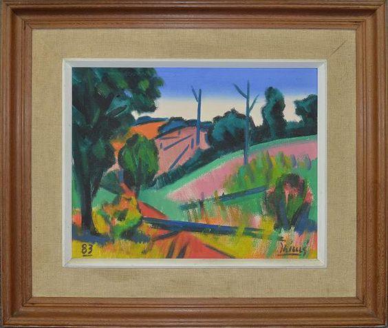 """INIMA DE PAULA (1918-1999)- """"Paisagem mineira"""", o.s.t. - 40 x 50 cm - Assinado e datado 83"""