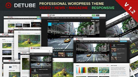 deTube - Professional Video WordPress Theme - eewee.fr