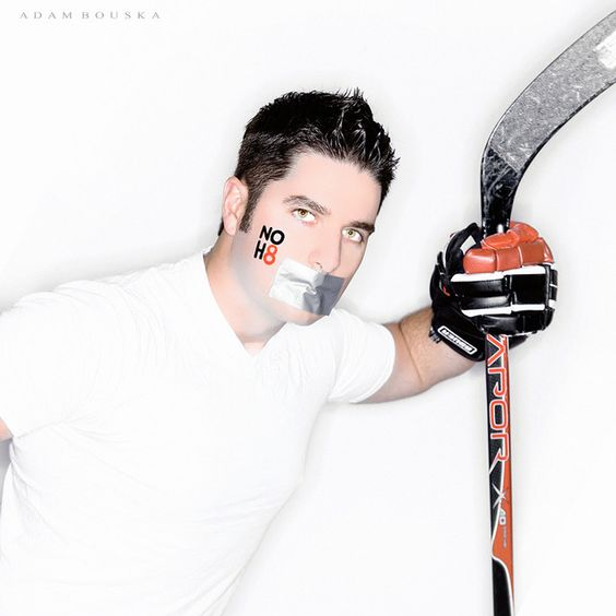 noh8campaign - Photos feature subjects with duct tape over their mouths, symbolizing their voices being silenced