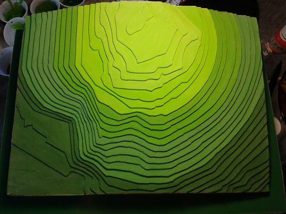 Maquete topográfica