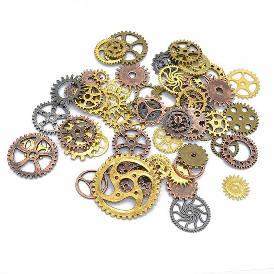 100g//Pack Punk Style Alloy Mechanical Gear Pendant DIY Jewelry Making Charms