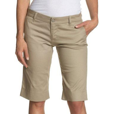 Dickies Girl - Bull Tomboy Girls Khaki Short | Khaki Short ...