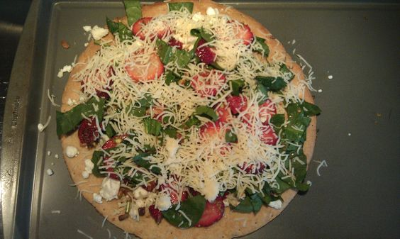 Spinach pizza, Goat cheese and Goats on Pinterest
