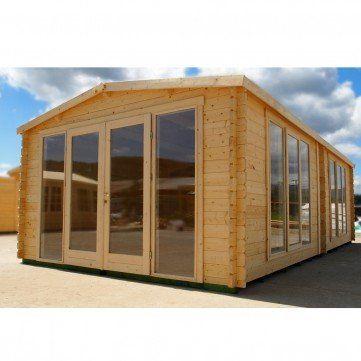 4m x 7.5m Buckingham Log Cabin | Greenhouse Warehouse
