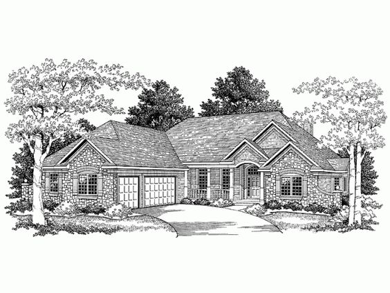 European house plans house plans and french country house for French country ranch house plans