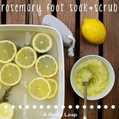 DIY Rosemary Foot Soak & Olive Oil Scrub