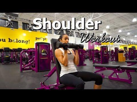 Sculpted Shoulders Workout Shoulder Exercises Shoulder Workout Planet Fitness Workout Plan Planet Fitness Workout Shoulder Workout