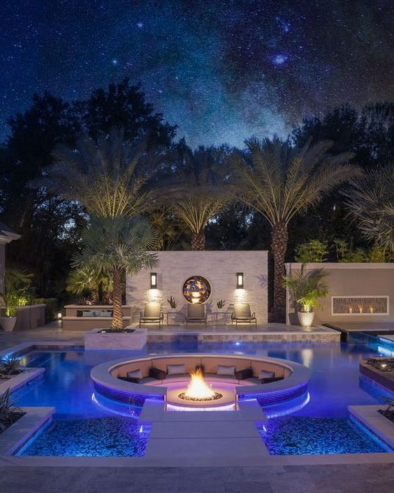 Home Pool House Designs Luxury Pools Dream House Exterior