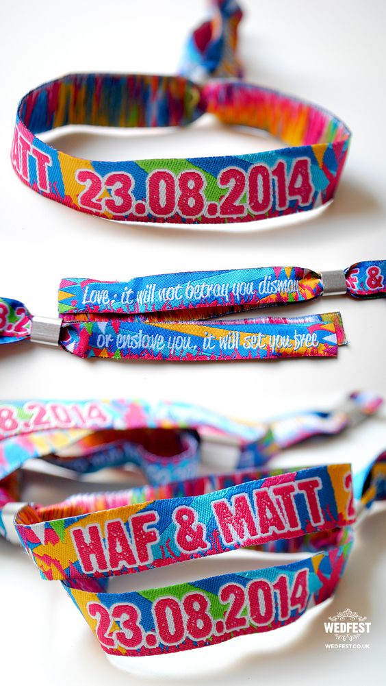 fabric wristbands for events - http://www.wedfest.co/fabric-wristbands-for-events-weddings-parties/