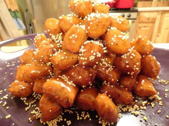 Jewish Bimuelos (Fried 'Honey' Puffs) – Regular and Gluten-Free | One Green Planet: Jewish Recipes, Recipes Jewish, Fried Honey, Vegan Gluten Free, Gluten Free, Jewish Food, Glutenfree Option, Free Recipes