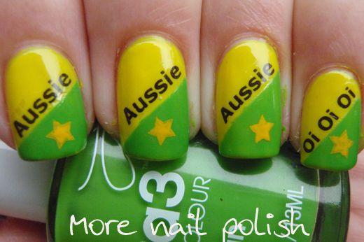 Aussie nail art: Australia Nail, Australia Day Nails, Australian Nails