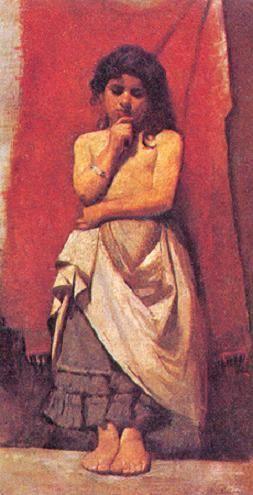 ''A caboclinha''  (1891): Representa uma criança de gestos muito tímidos,os pés juntos, os braços fechados a frente do corpo e olhar baixo, portando apenas uma longa saia.