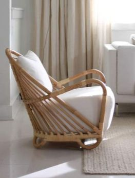 Bamboo chair - simple soft design makes the chair perfect for a nursery or reading den. #bamboochair #decor