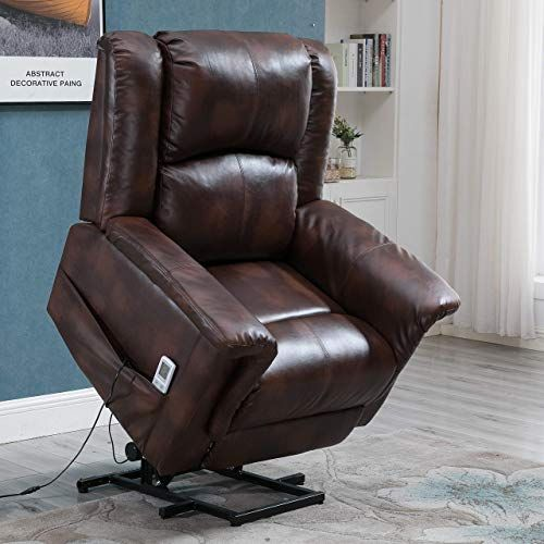 New Esright Power Lift Chair Electric Recliner Pu Leather Heated
