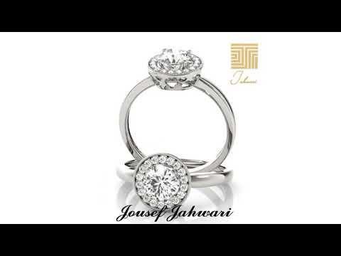 خاتم سوليتير الماس ذهب ابيض جديد Youtube Engagement Rings Rings Engagement