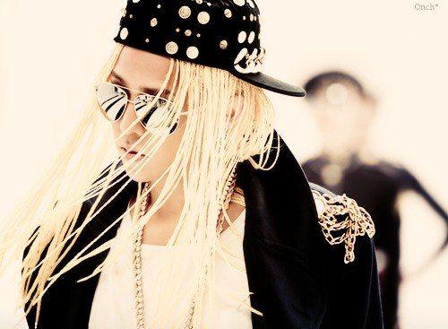 G-Dragon blonde braid