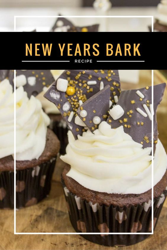 New Years Eve Dessert Chocolate Bark - Do It Your Freaking Self