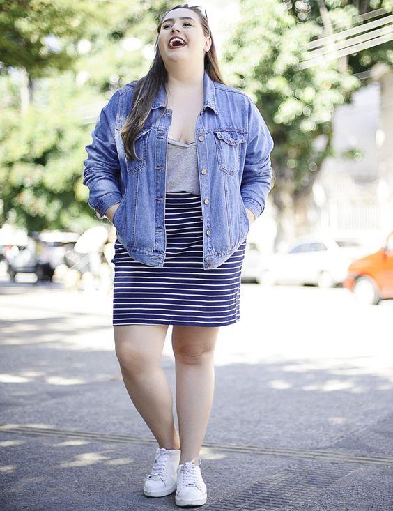 Look Plus Size Com Saia Lápis Blog Cinderela de Mentira