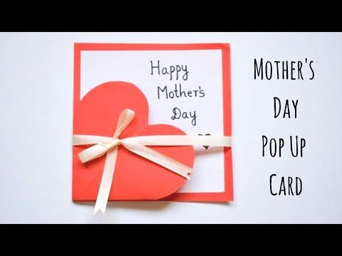 Easy Beautiful Mothers Day Card Handmade Mothers Day Greeting