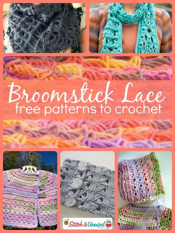 Broomstick lace started back in the 1800s where people actually used broomsticks to crochet this type of lace (hence the name). Now don't be afraid, this pattern is less complicated than it looks and all you really need is large knitting needles, a d
