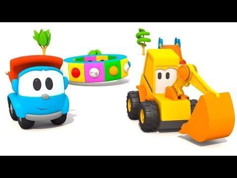 Leo O Caminhao E Max A Escavadeira Colecao De Desenhos Animados Animacao Infa Antil Youtube Cartoni Animati Camion Giostre