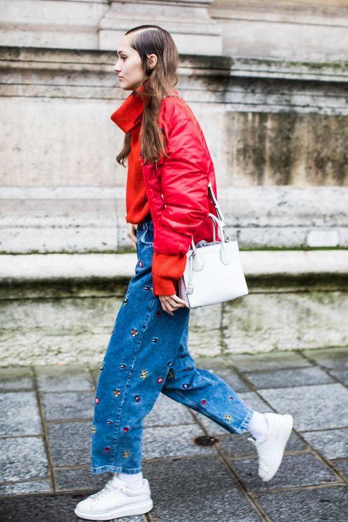 Tendencias de moda  estilo Denim en el Street Style Paris Fashion Week spring 2018