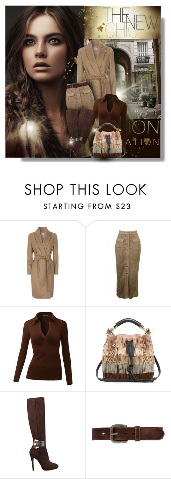 """""""CAMEL COAT"""" by kiki-parker ❤ liked on Polyvore featuring MaxMara, Chloé, GUESS and Bed