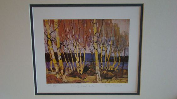 Tom Thomson-Evening Canoe Lake Group of Seven Art Print | eBay $34.99